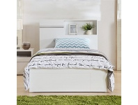 LivingStyles Elaine King Single Bed with Gaslift Storage and End Drawer