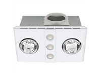 Magnus Duo Bathroom Heater with Exhaust and Light, White