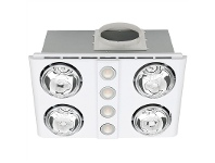 Magnus Quattro Bathroom Heater with Exhaust and Light, White