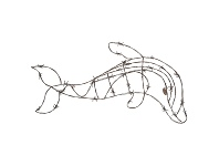 LivingStyles Cereus Barbed Iron Wire Dolphin Wall Decor, Small