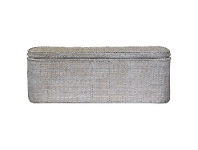 LivingStyles Savannah Rattan Blanket Box, White Wash