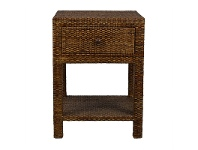 LivingStyles Savannah Rattan Bedside Table - Tobacco