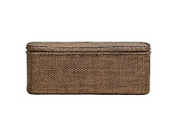 LivingStyles Savannah Rattan Blanket Box, Tobacco
