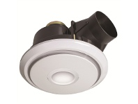 LivingStyles Boreal 27cm Round Exhaust Fan with LED Light - White