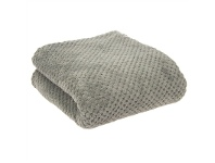 LivingStyles Diamond Fleece Single Size Blanket - Grey