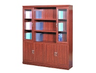 LivingStyles File Cabinet with 6 Doors and Open Shelves