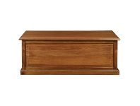 LivingStyles Tasmania Mahogany Timber Blanket Box, Medium, Light Pecan