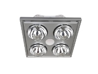 LivingStyles Midas Quattro Bathroom Heater with Exhaust and LED Light, Silver