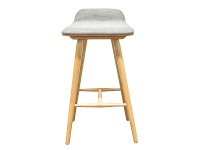 LivingStyles Corgi Wooden Counter Stool with Fabric Seat