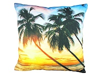 LivingStyles Set of 2 Tahitian Sunset Fabric Cushions