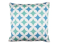 LivingStyles Set of 2 Melilla Blue Fabric Cushions