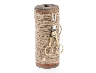 LivingStyles Tall Spool with Twine and Scissors