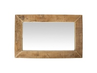 LivingStyles Swazi Rustic Timber Frame Wall Mirror