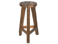 LivingStyles Aligarh Recycled Timber Bar Stool