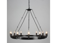 LivingStyles Camino 12 Light Iron Round Chandelier