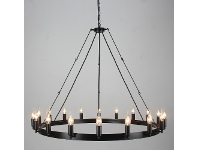 LivingStyles Camino 18 Light Iron Round Chandelier