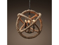 LivingStyles Replica Foucaults Rope Chandelier - Small
