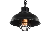 LivingStyles Duffys Industrial Metal Caged Pendant Light