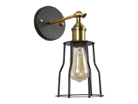 LivingStyles Ansgar Steel Cage Filament Wall Sconce