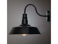 LivingStyles Daniel Industrial Iron Wall Sconce - Small