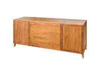LivingStyles Casarano Tasmanian Blackwood Timber 2 Door 3 Drawer Buffet Table, 180cm