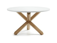 LivingStyles Tompion Wooden Round Dining Table, 120cm