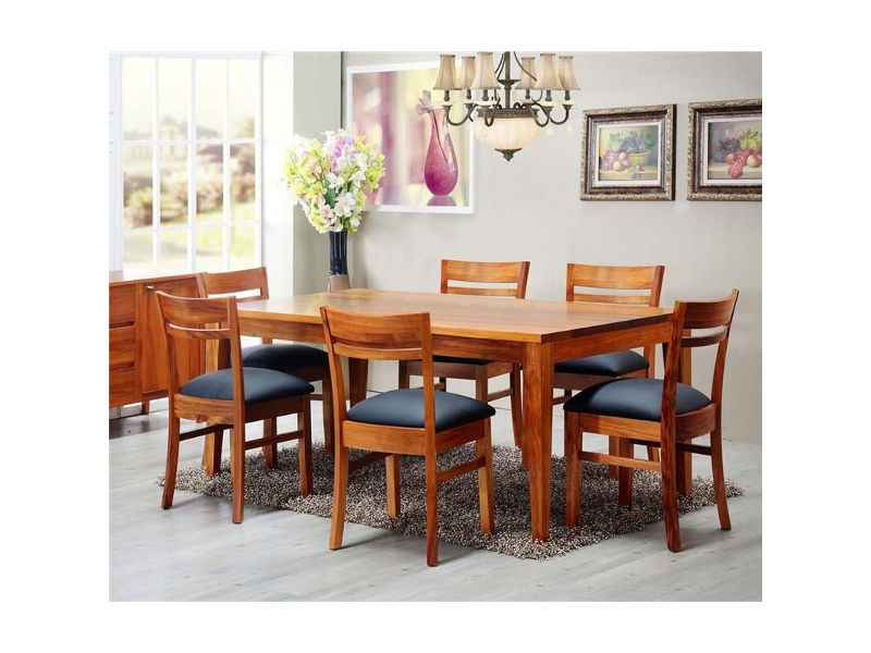 Casarano Tasmanian Blackwood Timber Dining Table (Table Only), 180cm