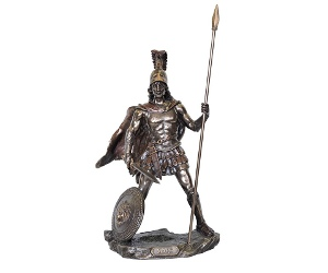 Veronese Cold Cast Bronze Coated Greek Mythology Figurine, Ares