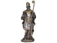 LivingStyles Veronese Cold Cast Bronze Coated Figurine, St. Patrick