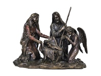 LivingStyles Veronese Cold Cast Bronze Coated Figurine, Nativity