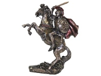 LivingStyles Veronese Cold Cast Bronze Coated Figurine, Alexander The Great