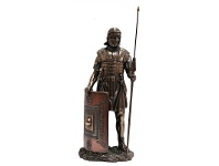 LivingStyles Veronese Cold Cast Bronze Coated Figurine, Roman Soldier
