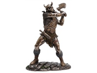 LivingStyles Veronese Cold Cast Bronze Coated Figurine, Viking Marauder