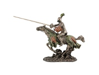 LivingStyles Veronese Cold Cast Bronze Coated Medieval Knight Figurine, Jousting