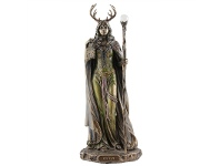 LivingStyles Veronese Cold Cast Bronze Coated Mythology Figurine, Elen of the Ways
