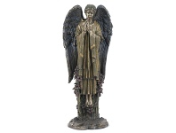 LivingStyles Veronese Cold Cast Bronze Coated Angel Figurine, Praying Gabriel