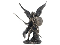 LivingStyles Veronese Cold Cast Bronze Coated Angel Figurine, Raphael