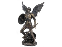 LivingStyles Veronese Cold Cast Bronze Coated Angel Figurine, St Michael the Archangel, Large