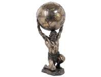 LivingStyles Veronese Cold Cast Bronze Coated Atlas Trinket Box