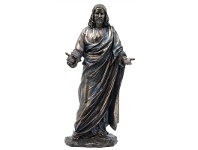 LivingStyles Veronese Cold Cast Bronze Coated Figurine, Jesus Christ