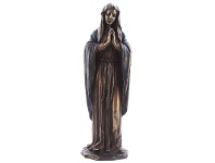 LivingStyles Veronese Cold Cast Bronze Coated Figurine, Our Lady Mary