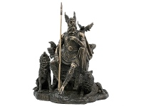 LivingStyles Veronese Cold Cast Bronze Coated Norse Mythology Figurine, Odin