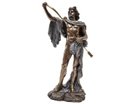 LivingStyles Veronese Cold Cast Bronze Coated Greek Mythology Figurine, Apollo