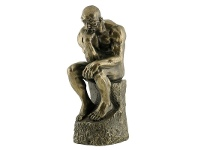 LivingStyles Veronese Cold Cast Bronze Coated Figurine, The Thinker, Small