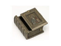 LivingStyles Veronese Cold Cast Bronze Coated Holy Bible Jewellery Box