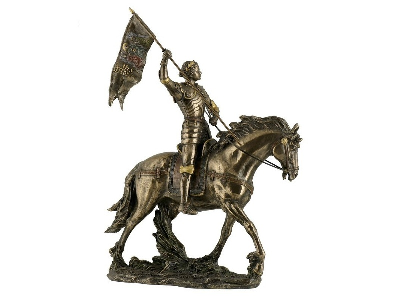 Veronese Cold Cast Bronze Coated Figurine, St. Joan of Arc