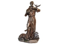LivingStyles Veronese Cold Cast Bronze Coated Figurine, St Francis of Assisi