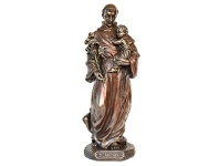 LivingStyles Veronese Cold Cast Bronze Coated Figurine, St Anthony