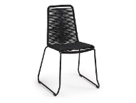 LivingStyles Balliol Stackable Indoor / Outdoor Dining Chair, Black