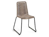 LivingStyles Balliol Stackable Indoor / Outdoor Dining Chair, Taupe